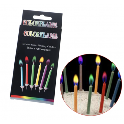 Happy birthday candles glitters and pastel colours