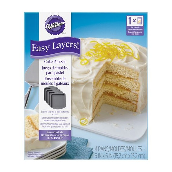 4 round layer cake moulds
