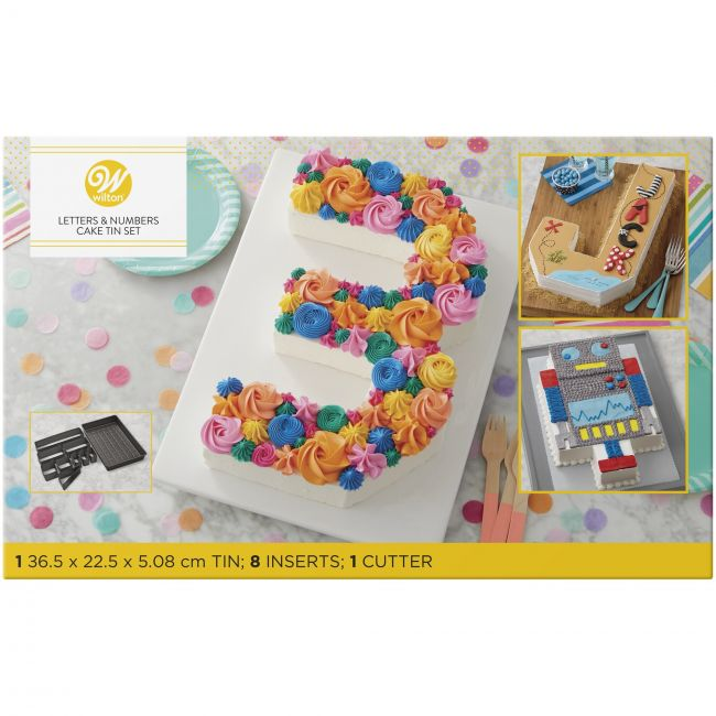 Numbers and Letters cake mould