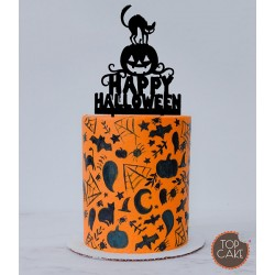 100 mini spider haloween paper liners