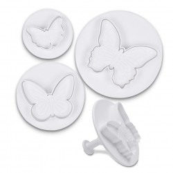 Butterfly cookie cutter with ejector x3