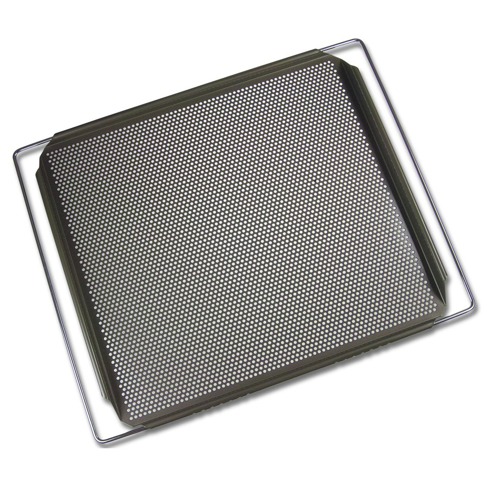Adjustable perforated over baking sheet