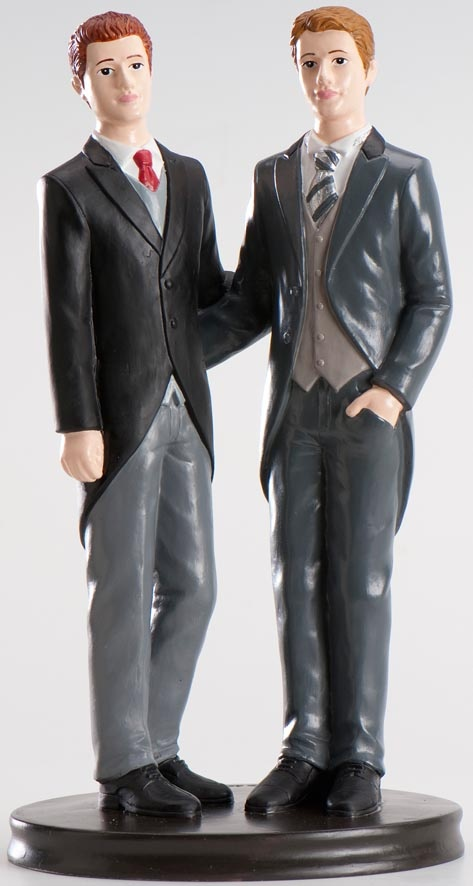 Male gay couple cake topper**