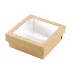 5 Square boxes with a lid 155 x 155