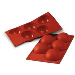 5 80mm Half-sphere silicone mould