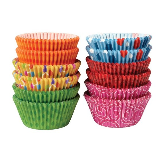 300 Wilton coloured cupcake baking cup