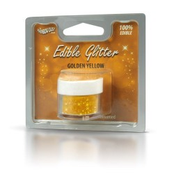 Rainbow Dust Edible glitter gold yellow