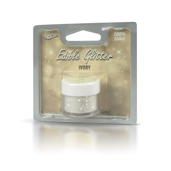Rainbow Dust Edible glitter ivory