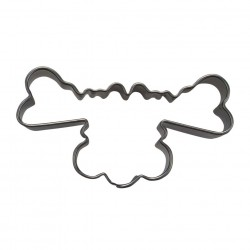 Reindeer's head cookie cutter