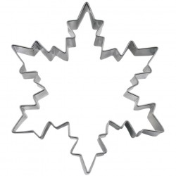 Ice crystal star cookie cutter