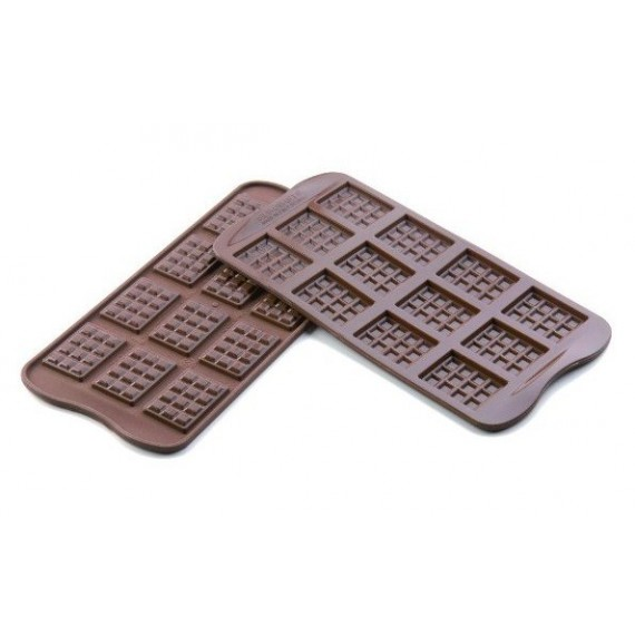 Small chocolate plate silicone mould