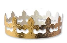 5 Traditionnal golden King's cake crowns