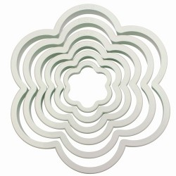 Flowers cookie cutter x6