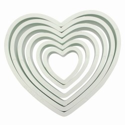 Hearts cookie cutter x6