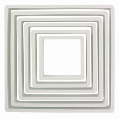 Square cookie cutter x6