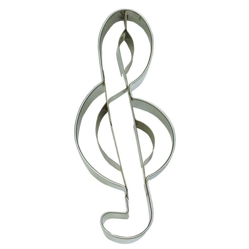 Trebble cookie cutter – musical symbol