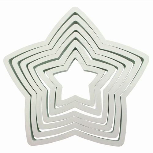 Star cookie cutter x 6