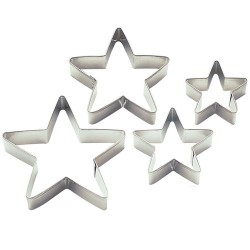 Star cookie cutters x 4