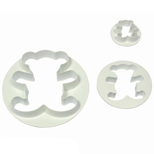 3 Teddy bear cookie cutters