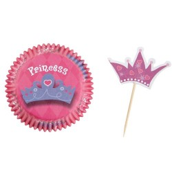 Set of Princess cupcake baking cups