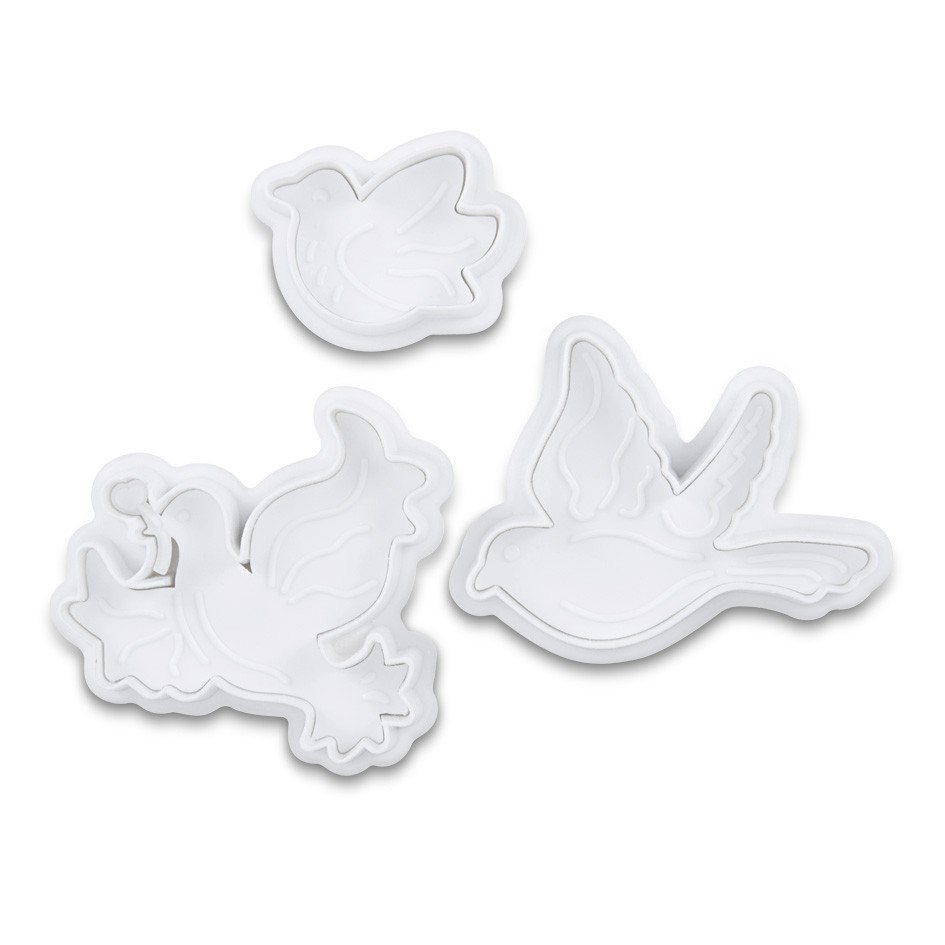 Birds cookie cutter with ejector x3