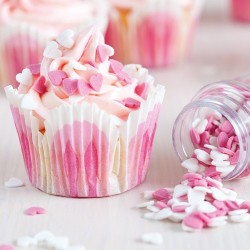 Pink and White Sugar Hearts DLOU 07/2018