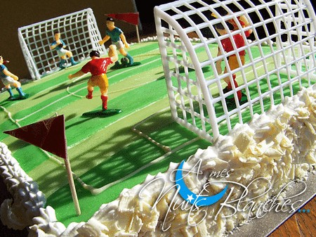 Football themed cake topper