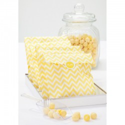 Yellow and White stripped sachets