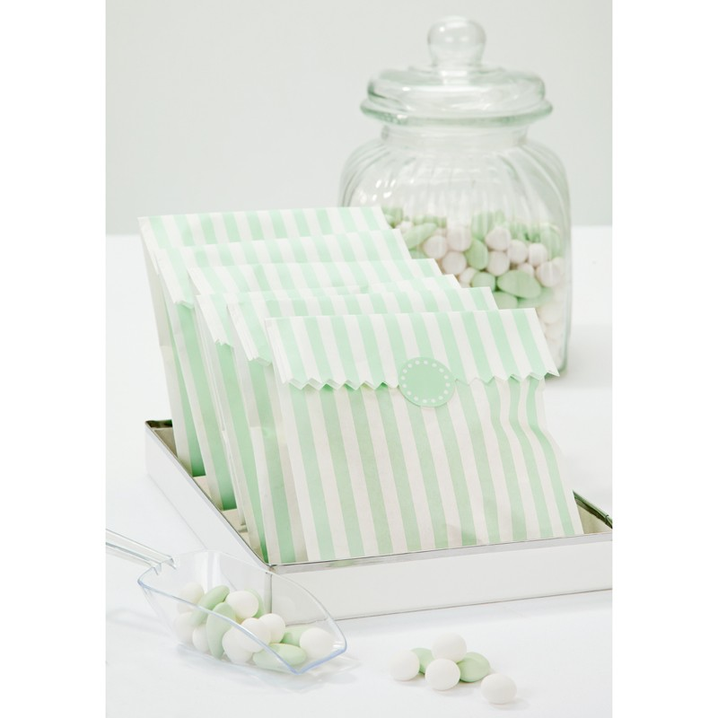 Blue and White stripped sachets