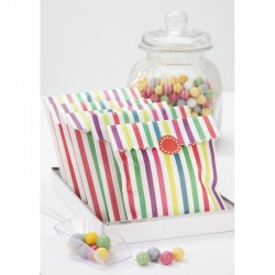 Multi-colored stripped sachets