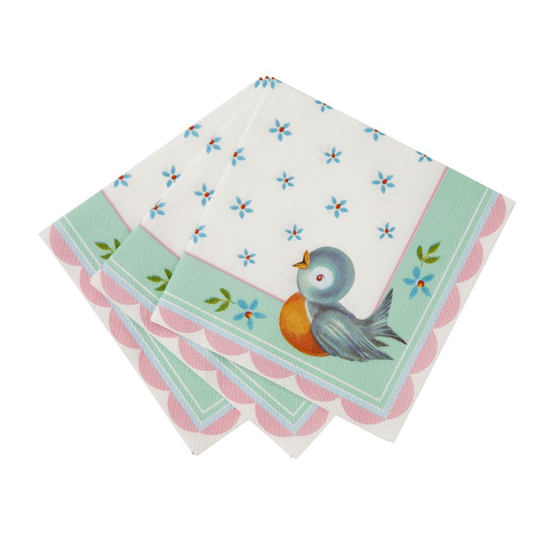 Birds and Flower Napkins