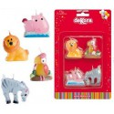 4 Bougies Animaux Sauvages *