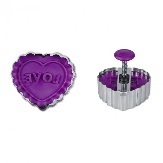 Love Heart shaped  form cutter with ejector
