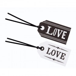 Black and White Love labels*