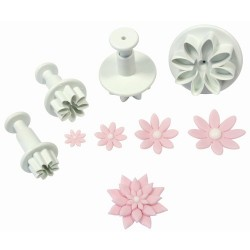 Small daisy form cutter with ejector x 4
