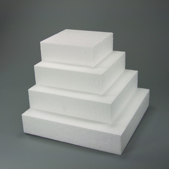 Square Dummy – Polystyrene for cakes 11.81 in. X 11.81 in.**
