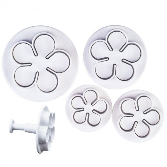 Small flowers form cutter with ejector x 4**