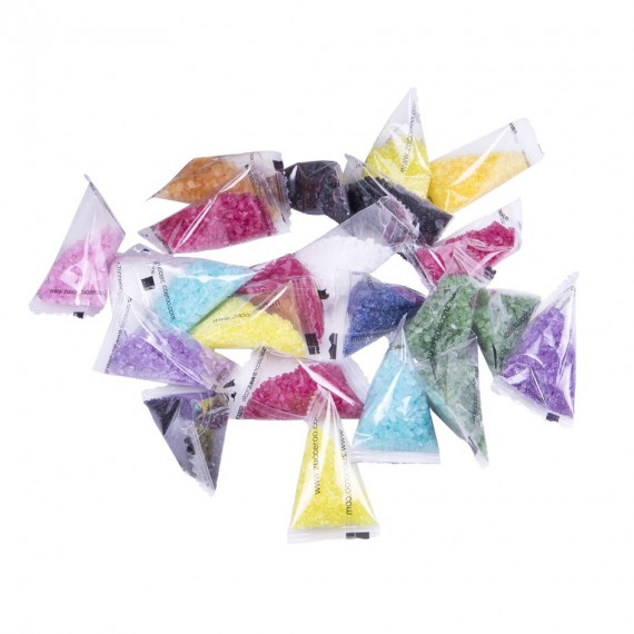 5 bags of coloured sugar