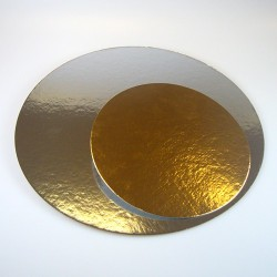 Round cardboard sole 13.77 in. gold coloured x 3