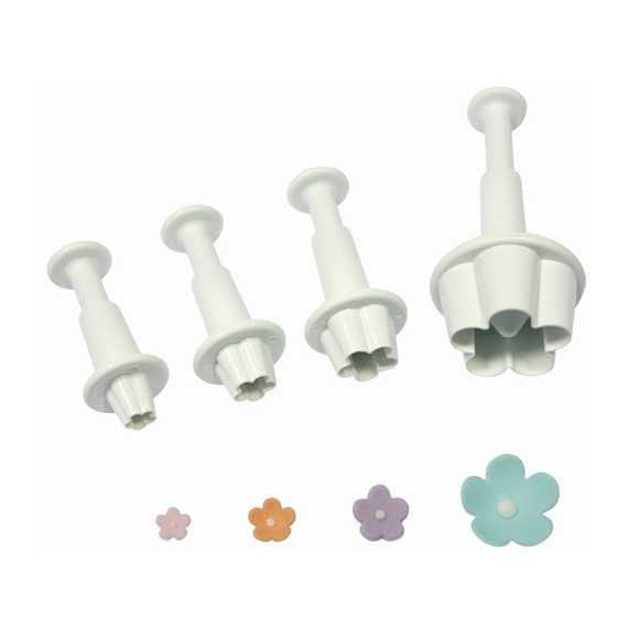 Mini Flowers form cutter with ejector x 4 PME**