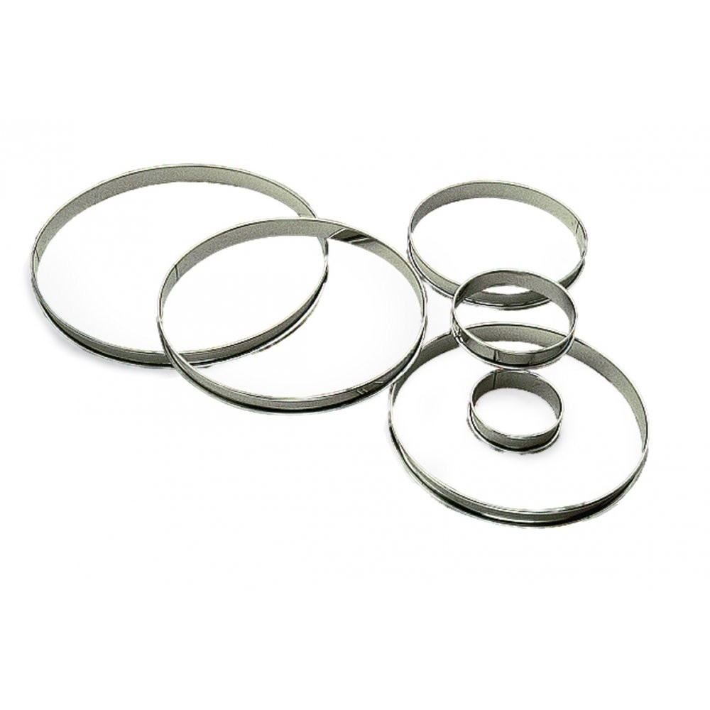 6 Pie circles Diameter 3.14 in.  H 0.58 in.