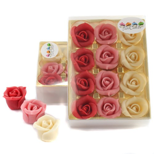 12 Almond paste roses