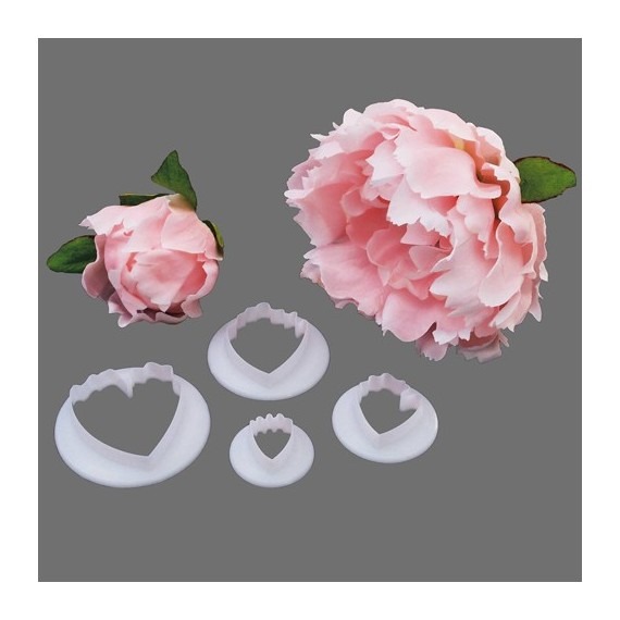 Peony Form Cutter x 4
