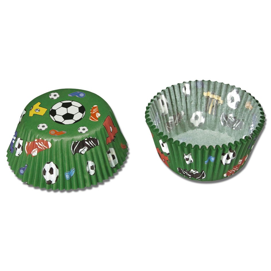 Football themed cupcake baking cup – Standard size