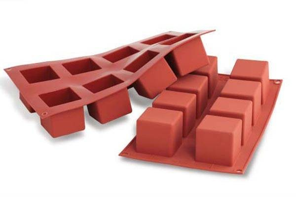 8 Cubes silicone mould