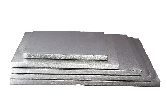 20cm Thick silver square cakedrum