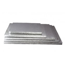 40cm Thick silver square cakedrum