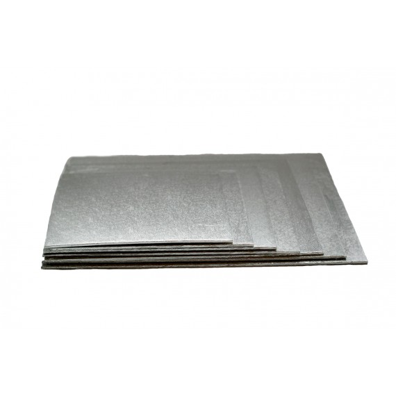 Thin  Silver square sole 12.59 in.