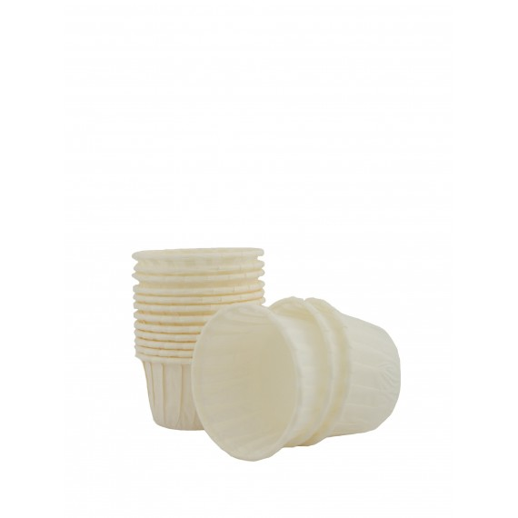 50 Mini Caissettes Blanches rigides - TopCake