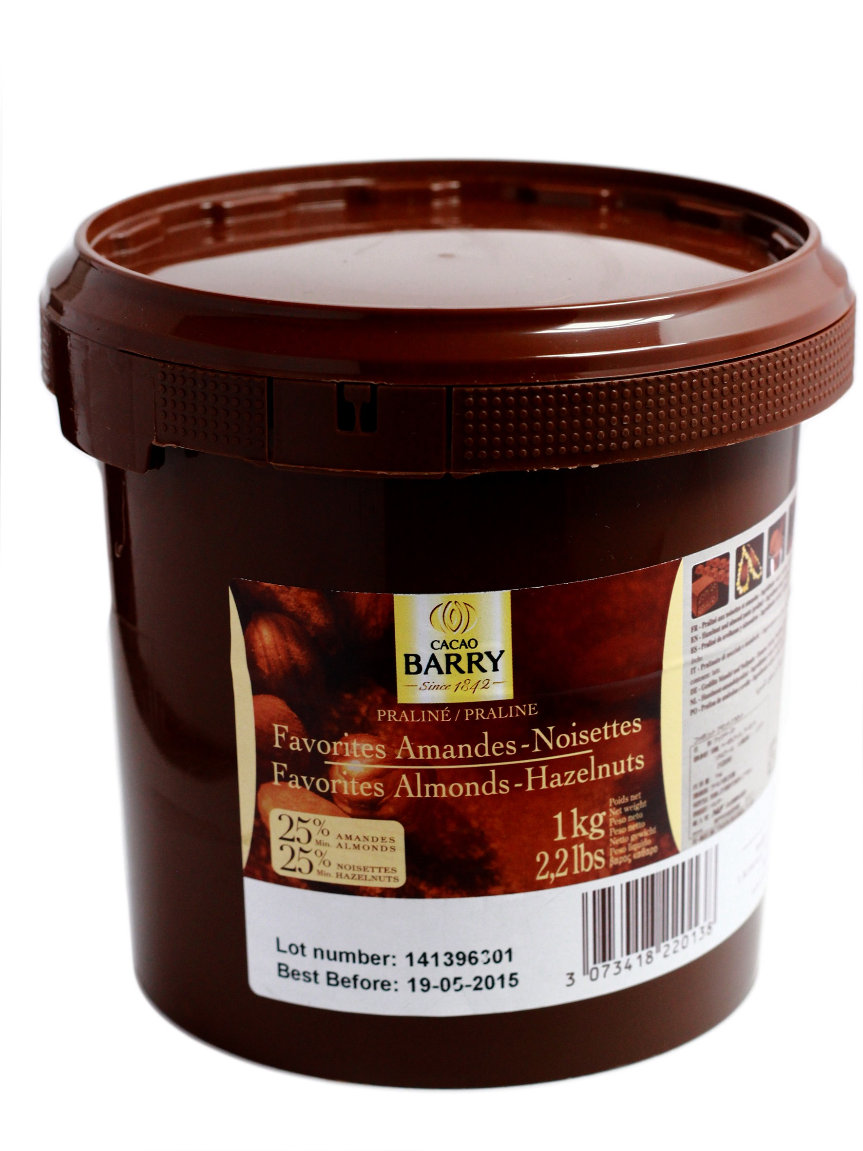 Praline almonds hazelnuts 1 kg plastic jar Barry